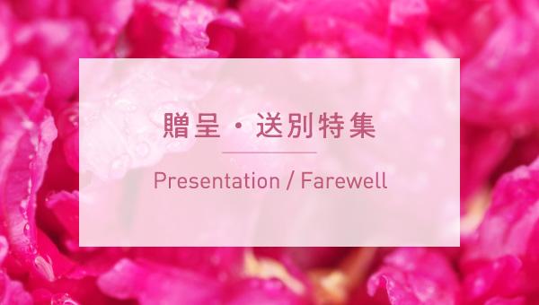presentation 贈呈・送別特集